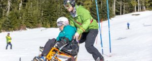 Child with Disabilities Enjoying Adaptive Skiing